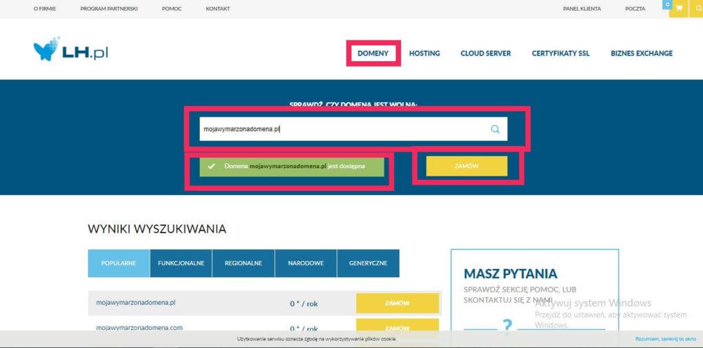 Jak kupić domenę w LH.pl
