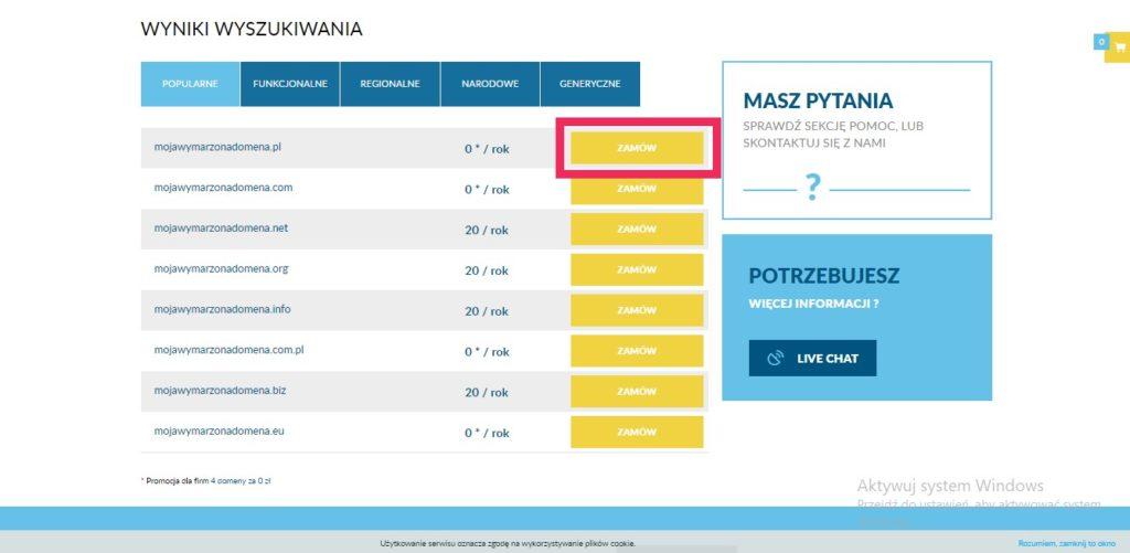 Jak kupić domenę w lh.pl poradnik nectarstudio